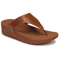 Topánky Ženy Sandále FitFlop LULU LEATHER TOEPOST Karamelová