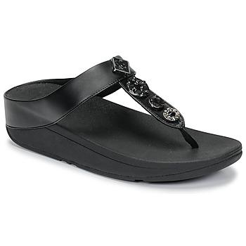 Topánky Ženy Žabky FitFlop FINO CIRCLE TOE-THONGS Čierna