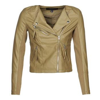 Oblečenie Ženy Kožené bundy a syntetické bundy Vero Moda VMRIAFAVO Béžová