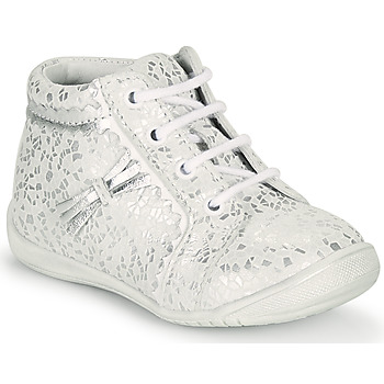 Topánky Dievčatá Členkové tenisky GBB ACINTA Biela / Strieborná