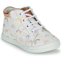 Topánky Dievčatá Členkové tenisky GBB NAHIA Biela / Ružová