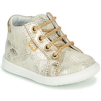 Topánky Dievčatá Členkové tenisky GBB FAMIA Crt / Béžovo-zlatá