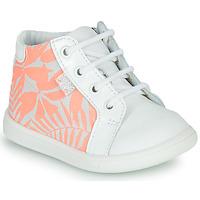 Topánky Dievčatá Členkové tenisky GBB FAMIA Biela / Ružová