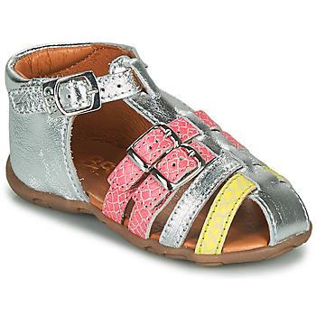 Topánky Dievčatá Sandále GBB RIVIERA Strieborná