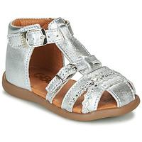 Topánky Dievčatá Sandále GBB ALIDA Strieborná