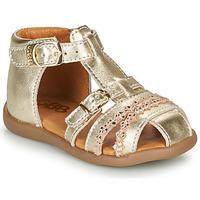 Topánky Dievčatá Sandále GBB ALIDA Zlatá