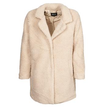 Oblečenie Ženy Kabáty Only ONLAURELIA Béžová
