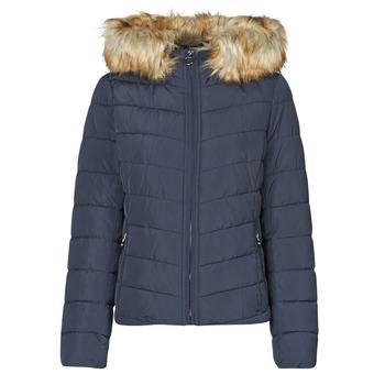 Oblečenie Ženy Vyteplené bundy Only ONLNEWELLAN Námornícka modrá