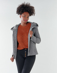 Oblečenie Ženy Kabáty Only ONLNEWSEDONA Šedá