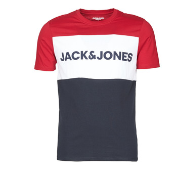 Oblečenie Muži Tričká s krátkym rukávom Jack & Jones JJELOGO BLOCKING Červená