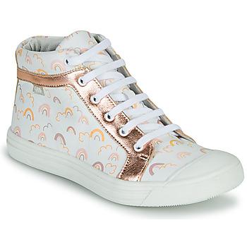 Topánky Dievčatá Členkové tenisky GBB LEOZIA Biela / Ružová