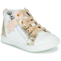 Topánky Dievčatá Členkové tenisky GBB VALA Biela / Zlatá