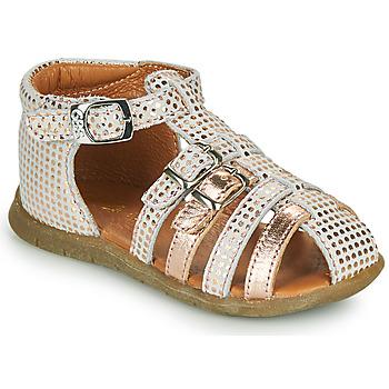 Topánky Dievčatá Sandále GBB PERLE Biela / Ružová / Zlatá