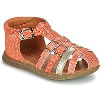 Topánky Dievčatá Sandále GBB PERLE Koralová / Zlatá