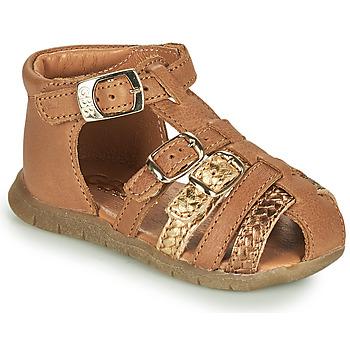 Topánky Dievčatá Sandále GBB PERLE Hnedá