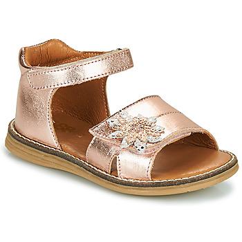 Topánky Dievčatá Sandále GBB SATIA Zlatá / Ružová / Vipera
