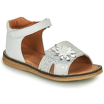 Topánky Dievčatá Sandále GBB SATIA Biela / Strieborná