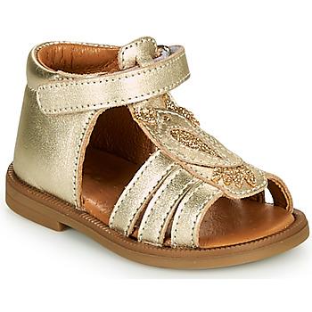 Topánky Dievčatá Sandále GBB FRANIA Zlatá