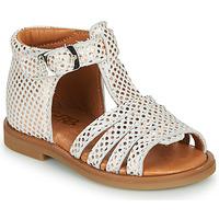 Topánky Dievčatá Sandále GBB ATECA Biela / Ružová / Zlatá