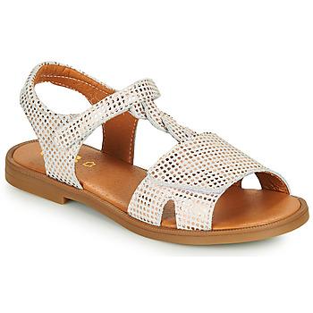 Topánky Dievčatá Sandále GBB FARENA Biela / Ružová / Zlatá