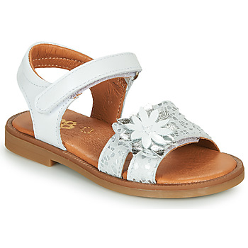 Topánky Dievčatá Sandále GBB UPPLA Biela / Strieborná
