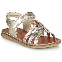 Topánky Dievčatá Sandále GBB SUMY Zlatá