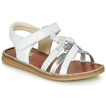 Topánky Dievčatá Sandále GBB SUMY Biela / Strieborná