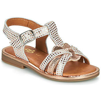 Topánky Dievčatá Sandále GBB EGEA Biela / Ružová / Zlatá