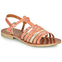 Topánky Dievčatá Sandále GBB BANGKOK Koralová / zlatá