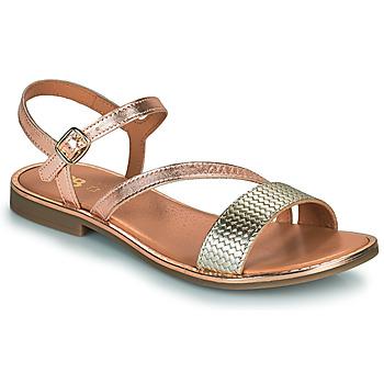 Topánky Dievčatá Sandále GBB FANA Ružová / Zlatá / Zlatá