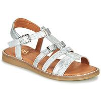 Topánky Dievčatá Sandále GBB OLALA Strieborná