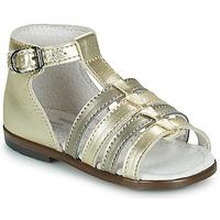 Topánky Dievčatá Sandále Little Mary HOSMOSE Zlatá