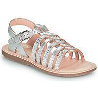 Topánky Dievčatá Sandále Little Mary BARBADE Strieborná