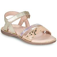 Topánky Dievčatá Sandále Little Mary DOLERON Zlatá