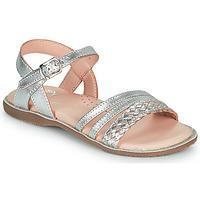 Topánky Dievčatá Sandále Little Mary LIME Strieborná