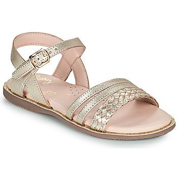 Topánky Dievčatá Sandále Little Mary LIME Zlatá