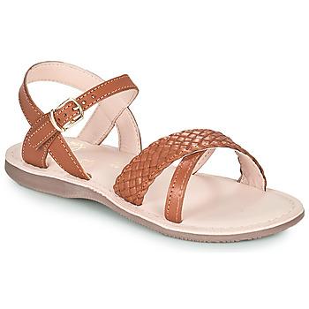 Topánky Dievčatá Sandále Little Mary LIANE Hnedá