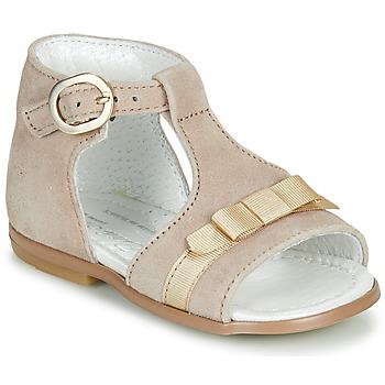 Topánky Dievčatá Sandále Little Mary GAELLE Béžová
