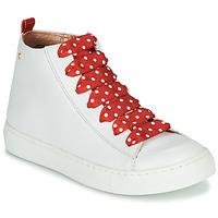 Topánky Dievčatá Členkové tenisky Little Mary SASHA (VE014) Biela / Červená