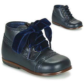 Topánky Dievčatá Polokozačky Little Mary FAVORITE Námornícka modrá