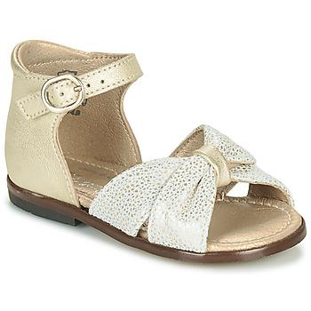 Topánky Dievčatá Sandále Little Mary DIANA Zlatá