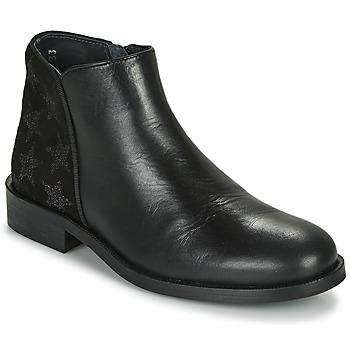 Topánky Dievčatá Polokozačky Little Mary CAMERON Čierna
