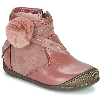 Topánky Dievčatá Polokozačky Little Mary FRANCOISE Ružová