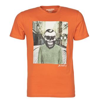 Oblečenie Muži Tričká s krátkym rukávom Jack & Jones JORSKULLING Oranžová