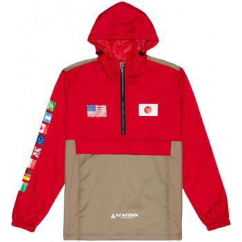 Oblečenie Muži Vetrovky a bundy Windstopper Huf Jacket flags anorak Červená
