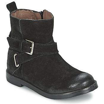 Topánky Dievčatá Polokozačky Aster NINON čierna