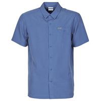 Oblečenie Muži Košele s krátkym rukávom Columbia LAKESIDE TRAIL Modrá