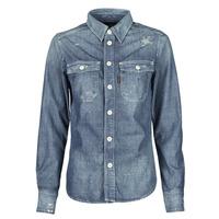 Oblečenie Ženy Košele a blúzky G-Star Raw KICK BACK WORKER SHIRT WMN L\S Modrá / Medium