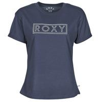 Oblečenie Ženy Tričká s krátkym rukávom Roxy EPIC AFTERNOON WORD Námornícka modrá