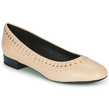 Topánky Ženy Balerínky a babies Geox D WISTREY Ružová / Zlatá
